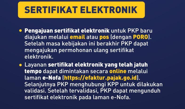 Perpanjangan sertifikat elektronik online